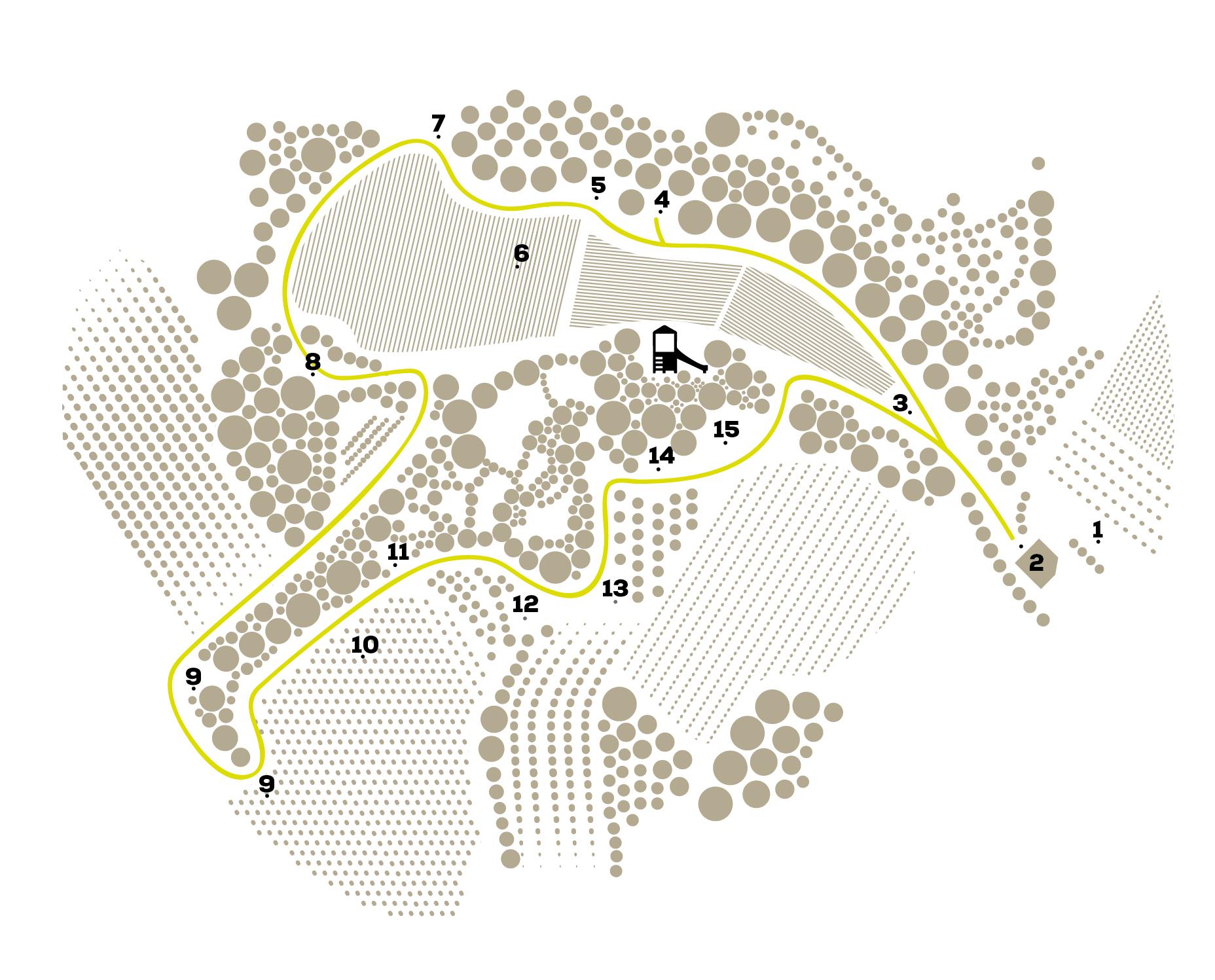 Mapa vinya dels artistes