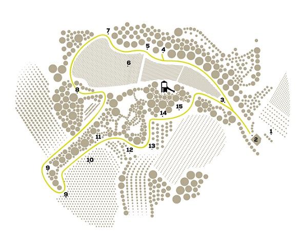 mapa la vinya dels artistes